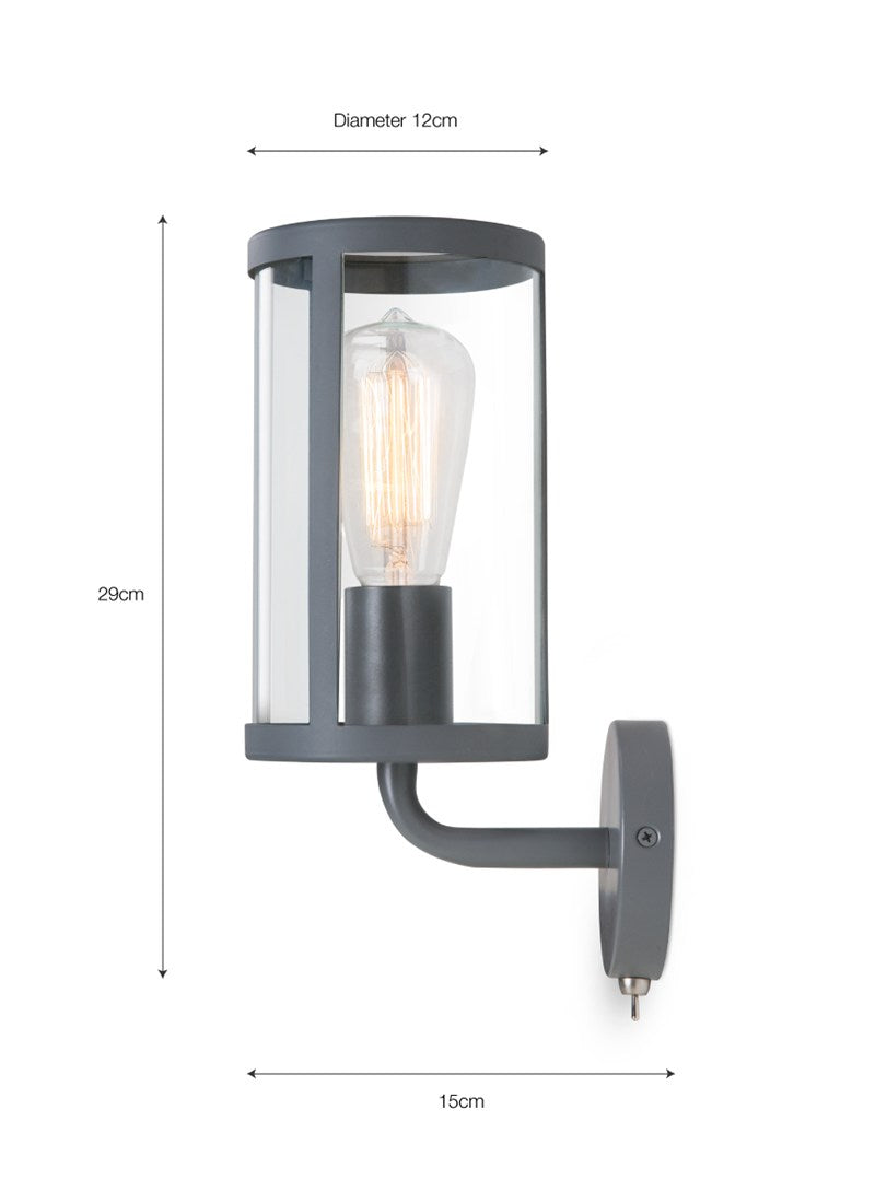 Cadogan Wall Light in Charcoal - Ezzo