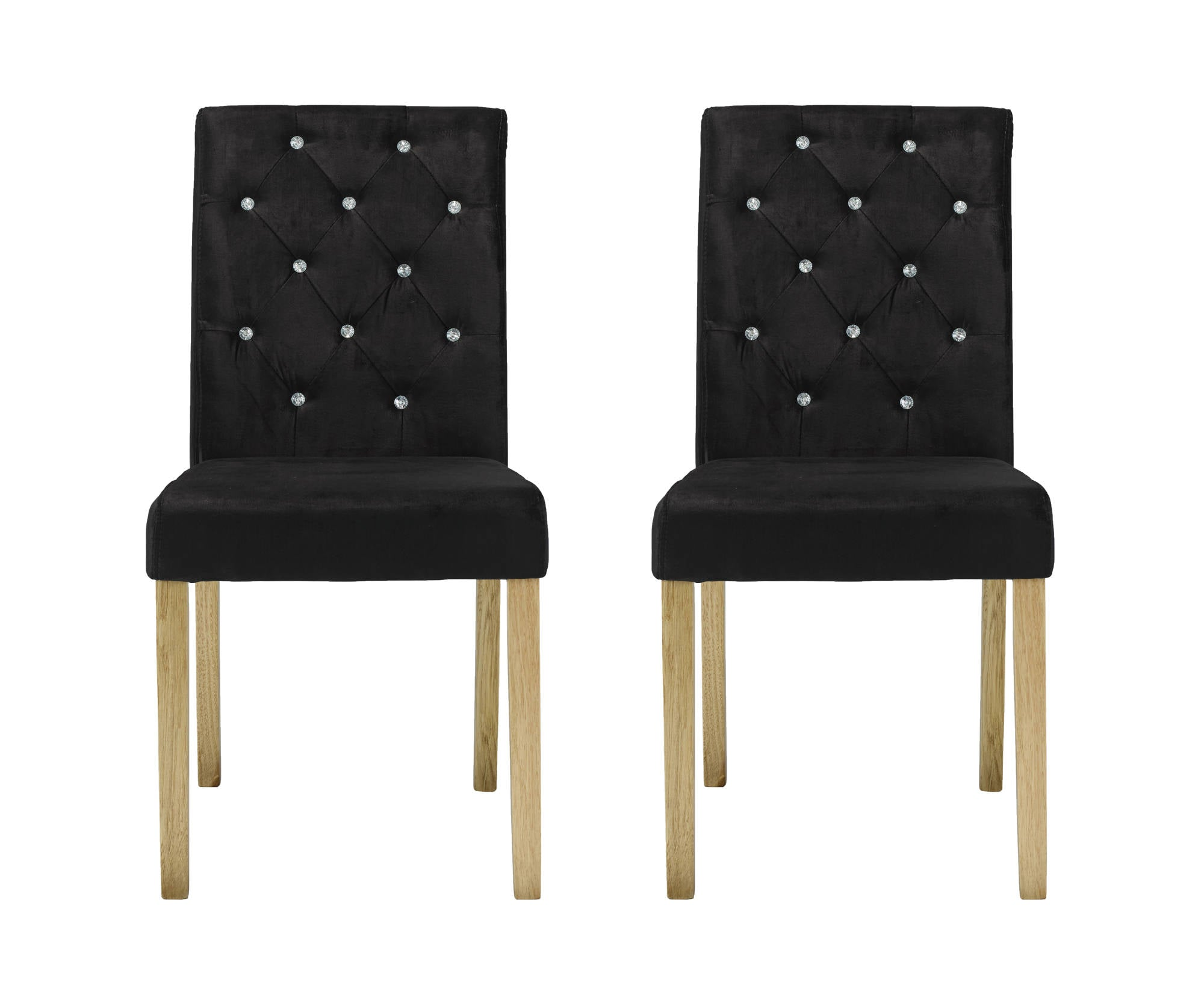 Chaillot Dining Chairs in Black - Ezzo