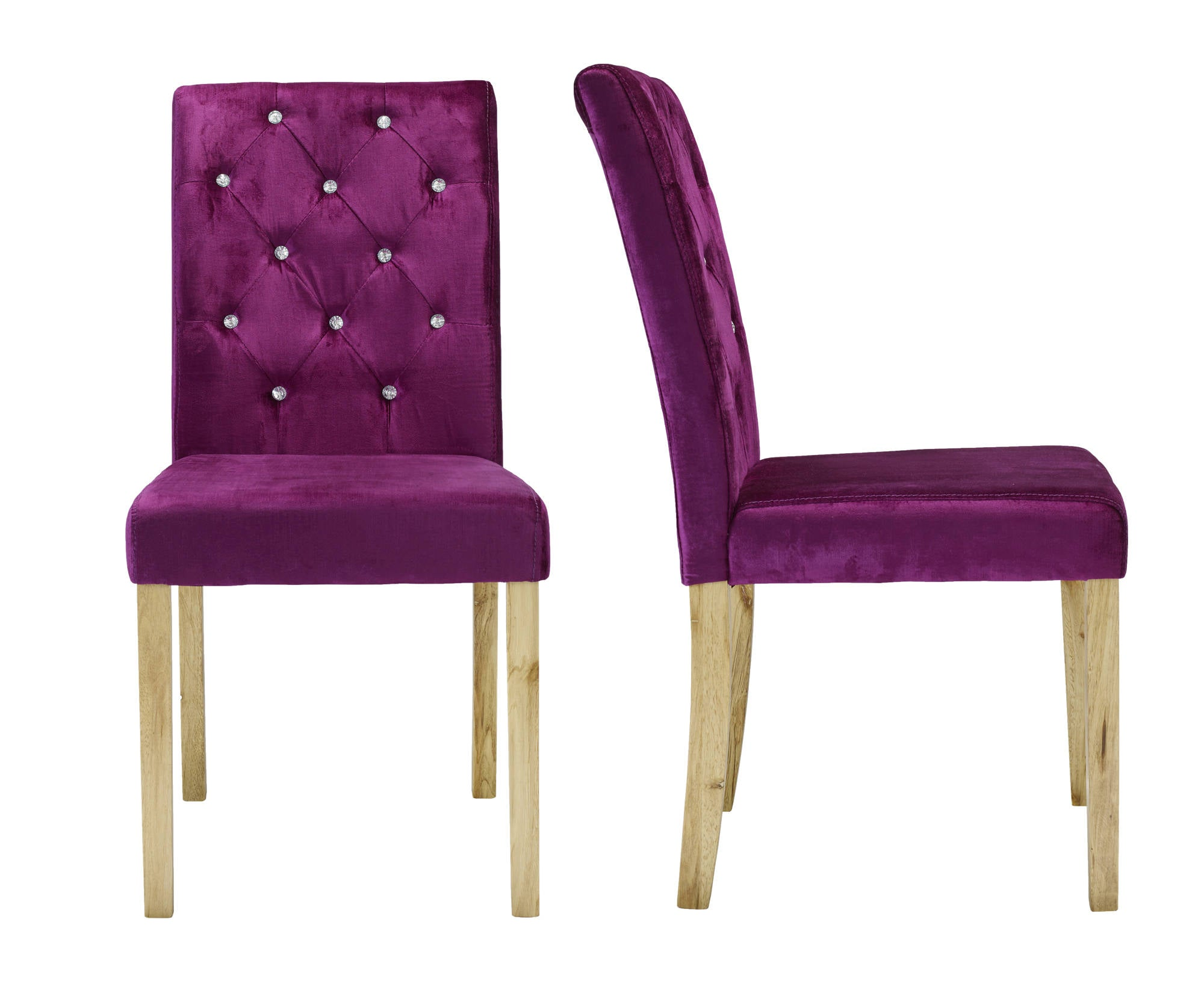 Chaillot Dining Chairs in Purple - Ezzo
