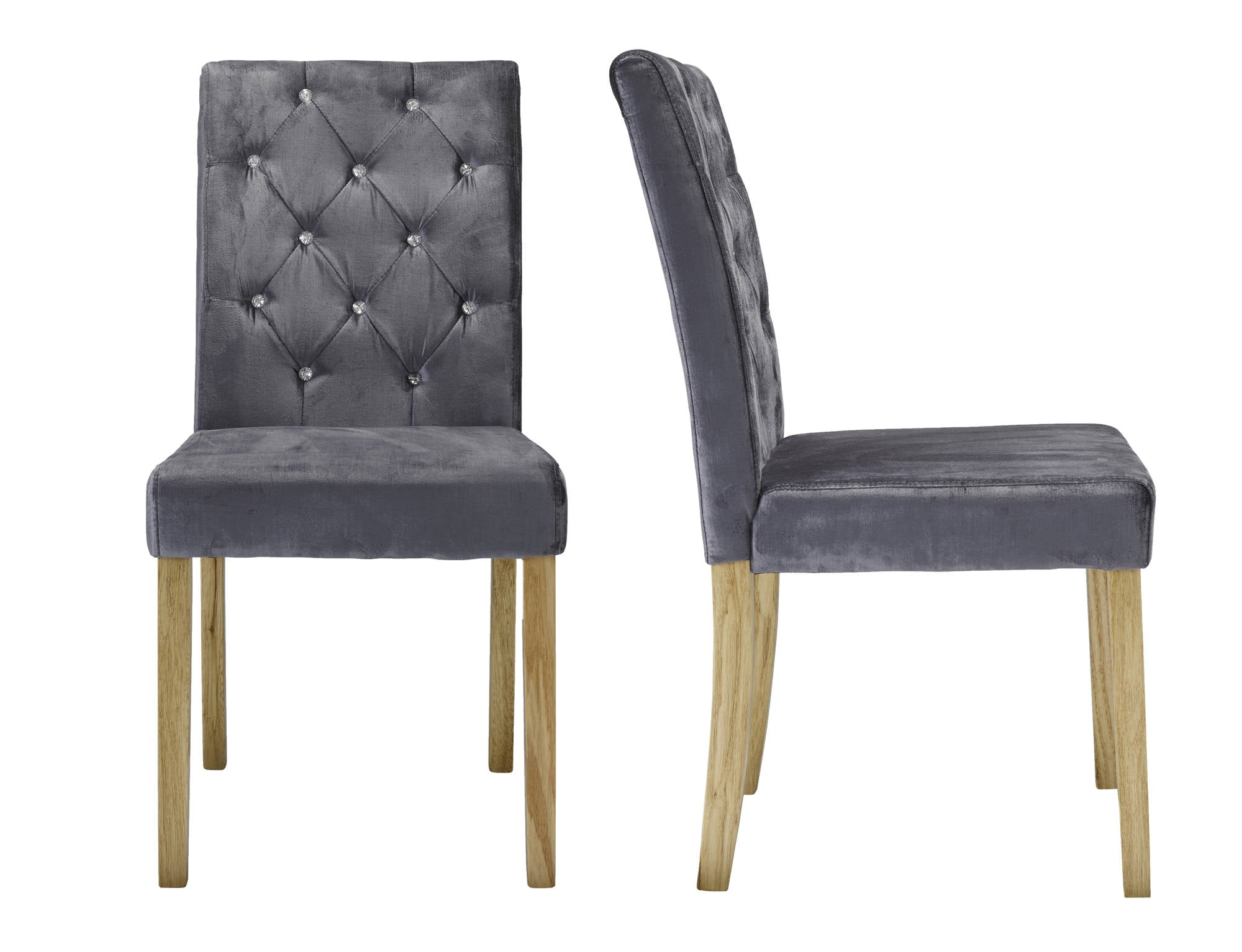Chaillot Dining Chairs in Silver - Ezzo
