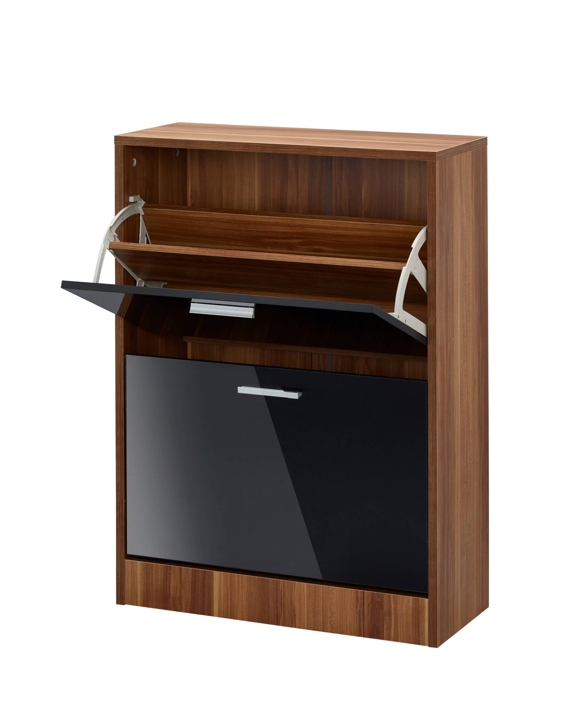 Chancery 2 Drawer Shoe Cabinet in Black - Ezzo