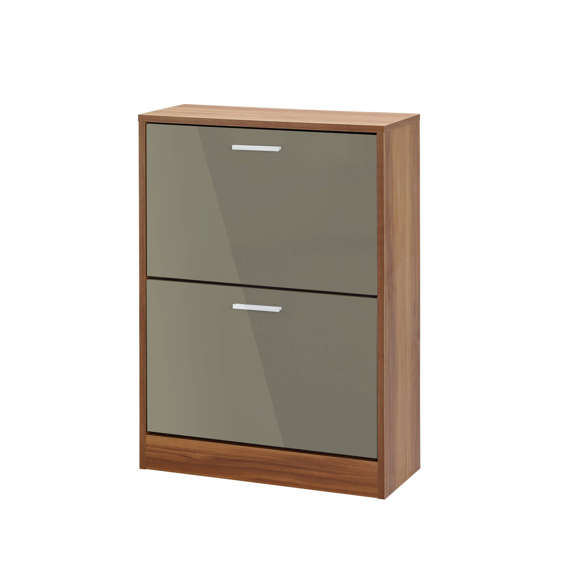 Chancery 2 Drawer Shoe Cabinet in Grey - Ezzo
