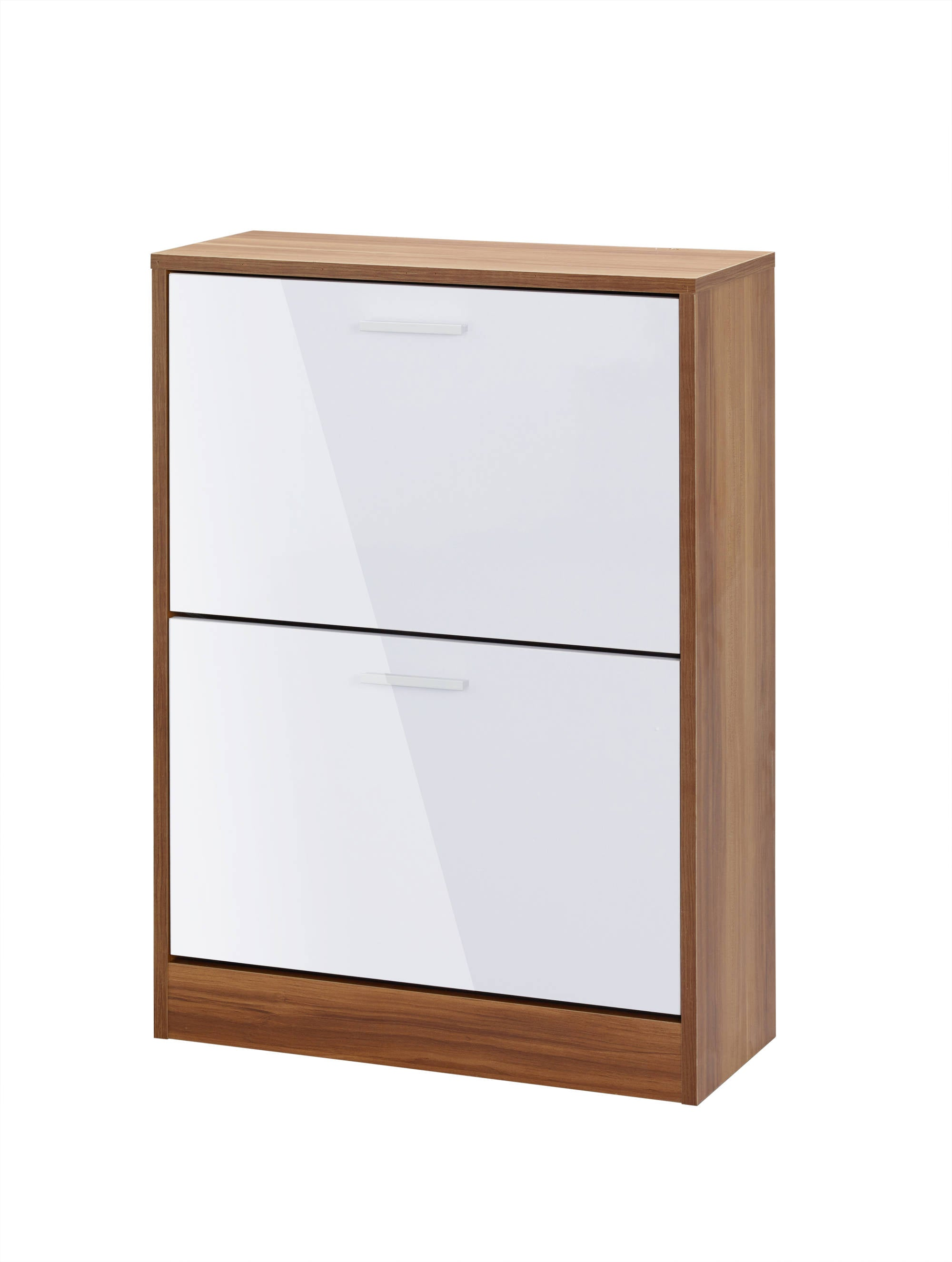 Chancery 2 Drawer Shoe Cabinet in White - Ezzo