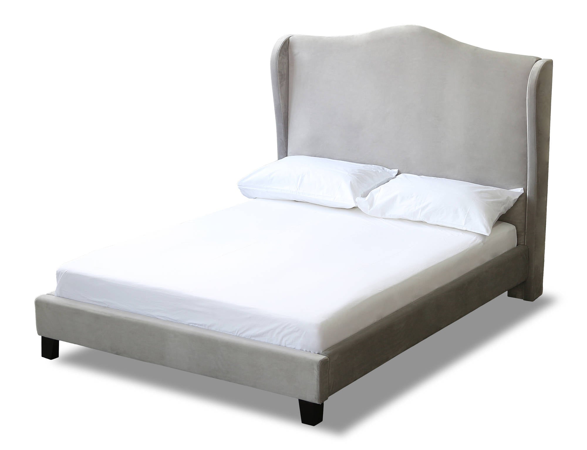 Cheverny King Size Bed in Silver - Ezzo