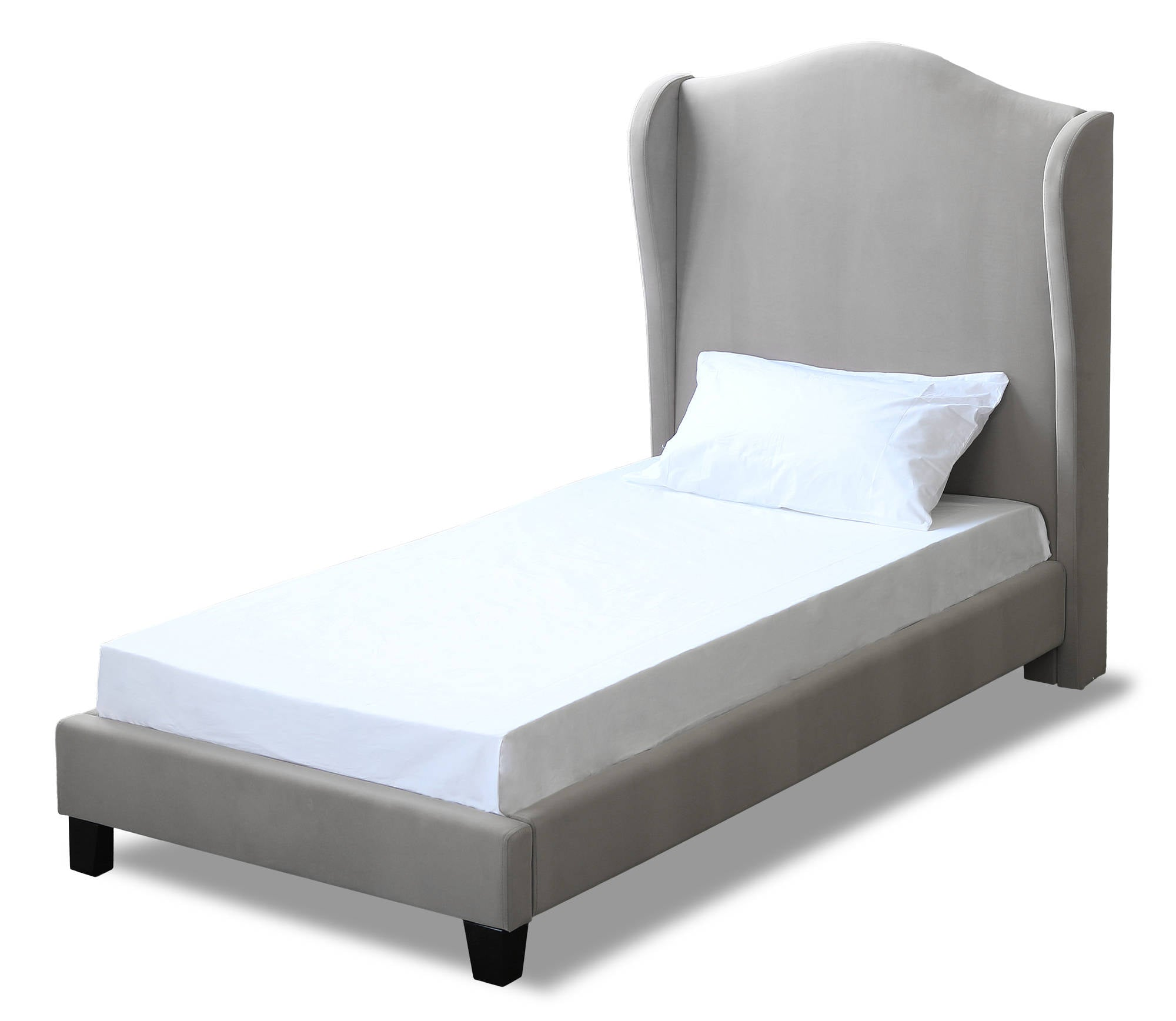 Cheverny Single Bed in Silver - Ezzo