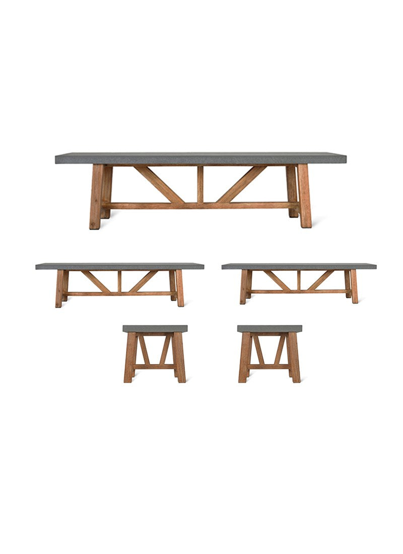 Charlbury Large Table and Bench Set - Ezzo