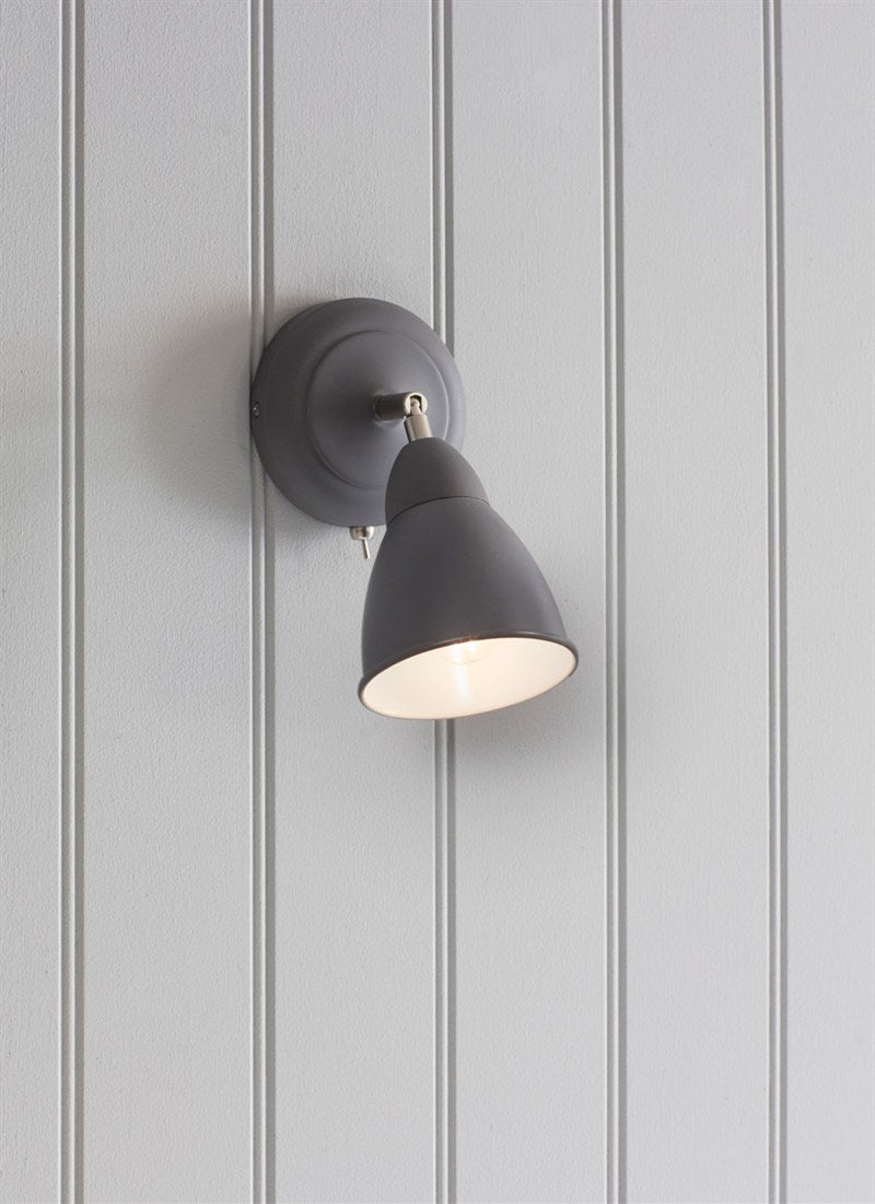 Chiswick Wall Light in Charcoal - Ezzo