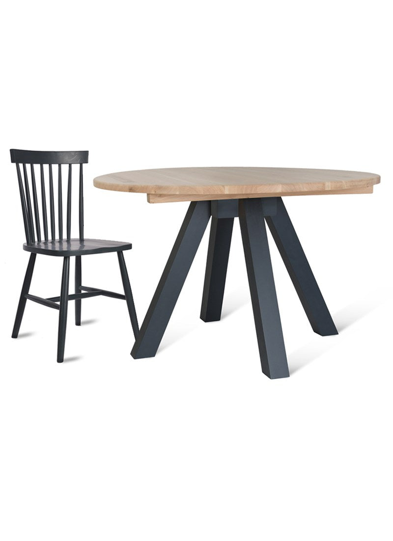 Tower Dining Table and Spindle Chair Set - Ezzo
