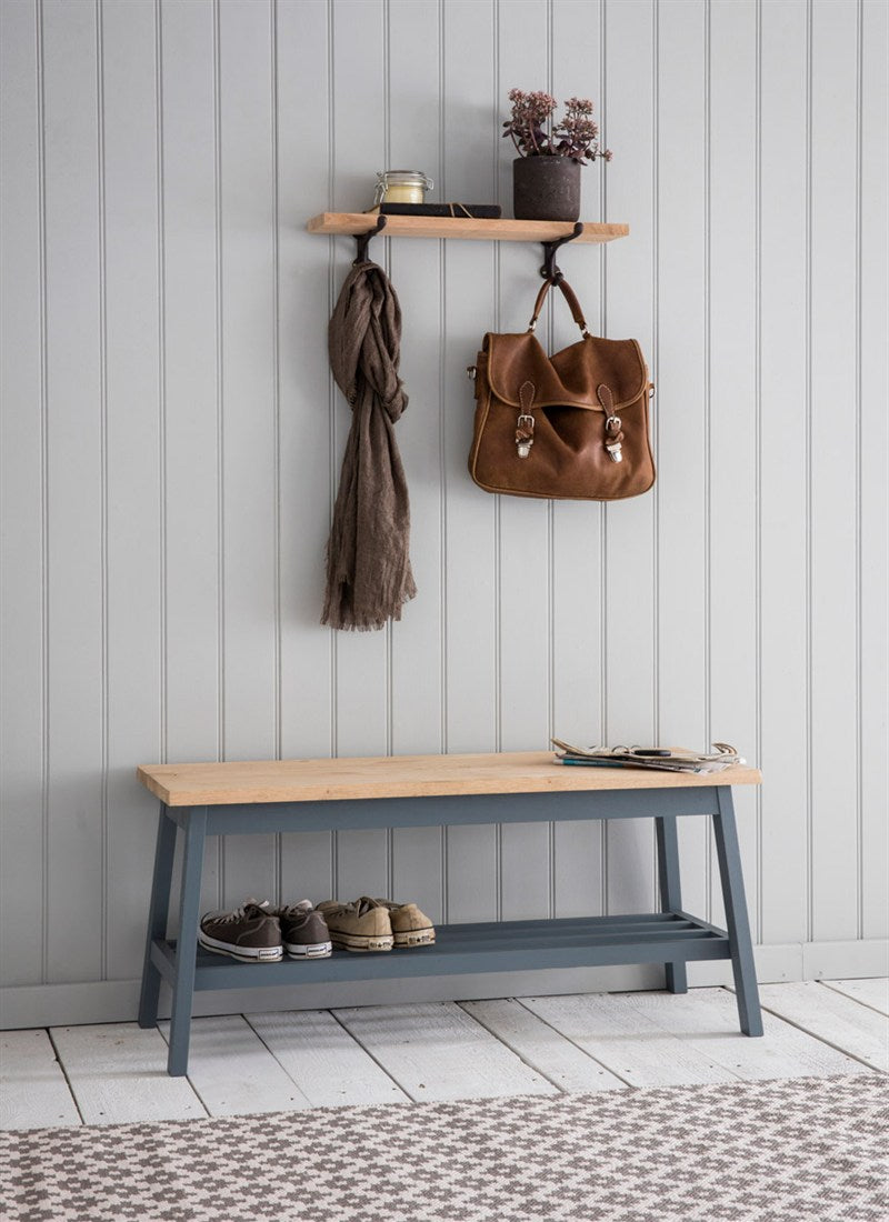 Clockhouse Hallway Bench in Charcoal - Ezzo