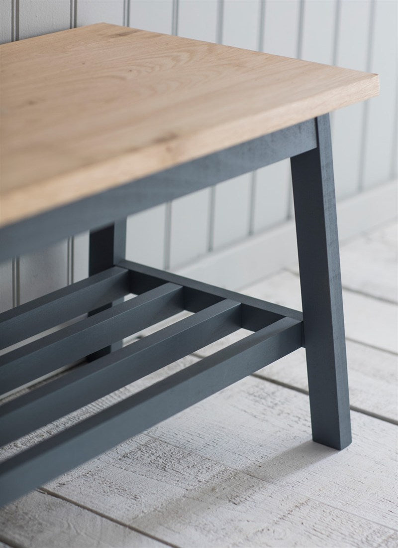 Tower Hallway Bench in Charcoal - Ezzo