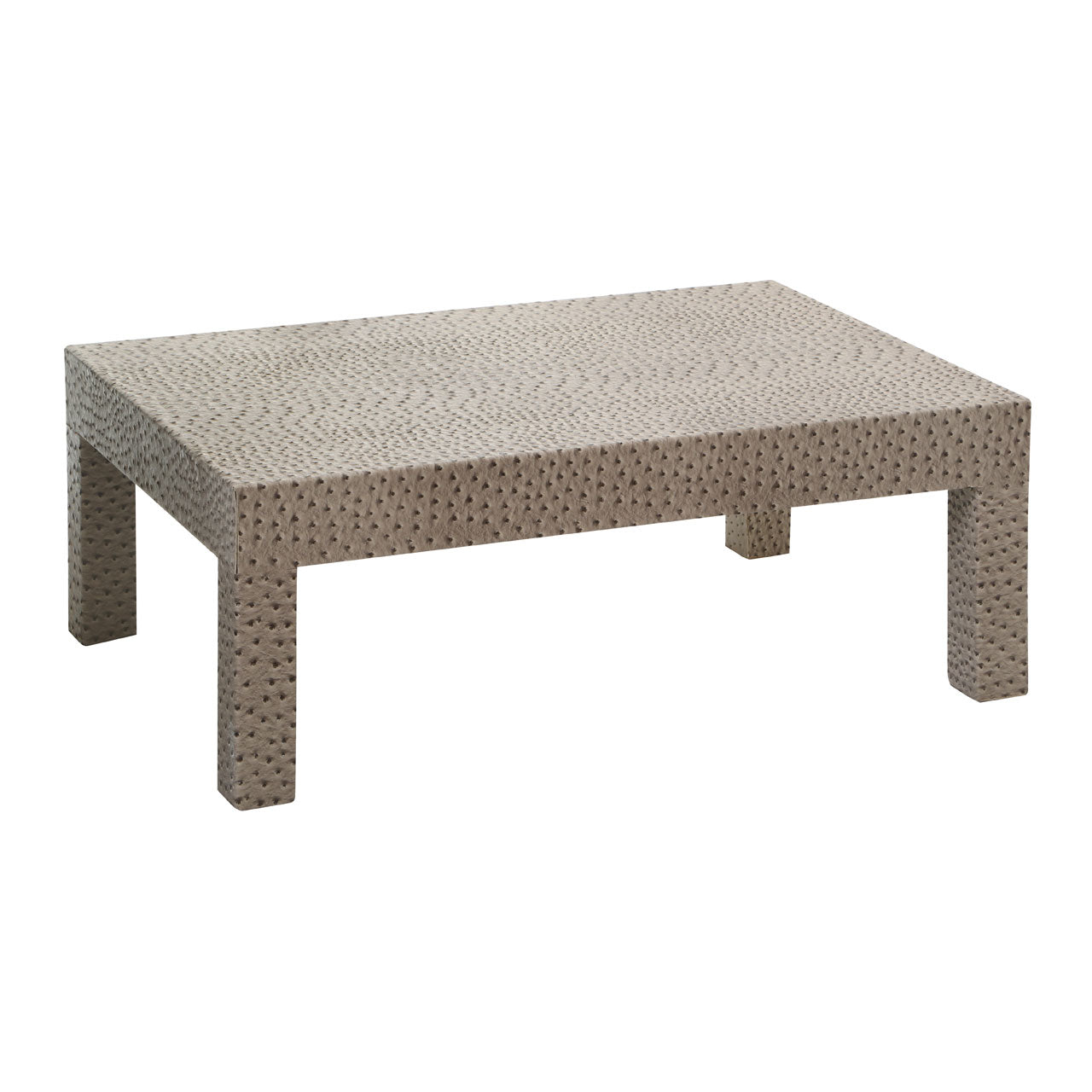 Coffee Table in Ostrich Leather Effect - Ezzo