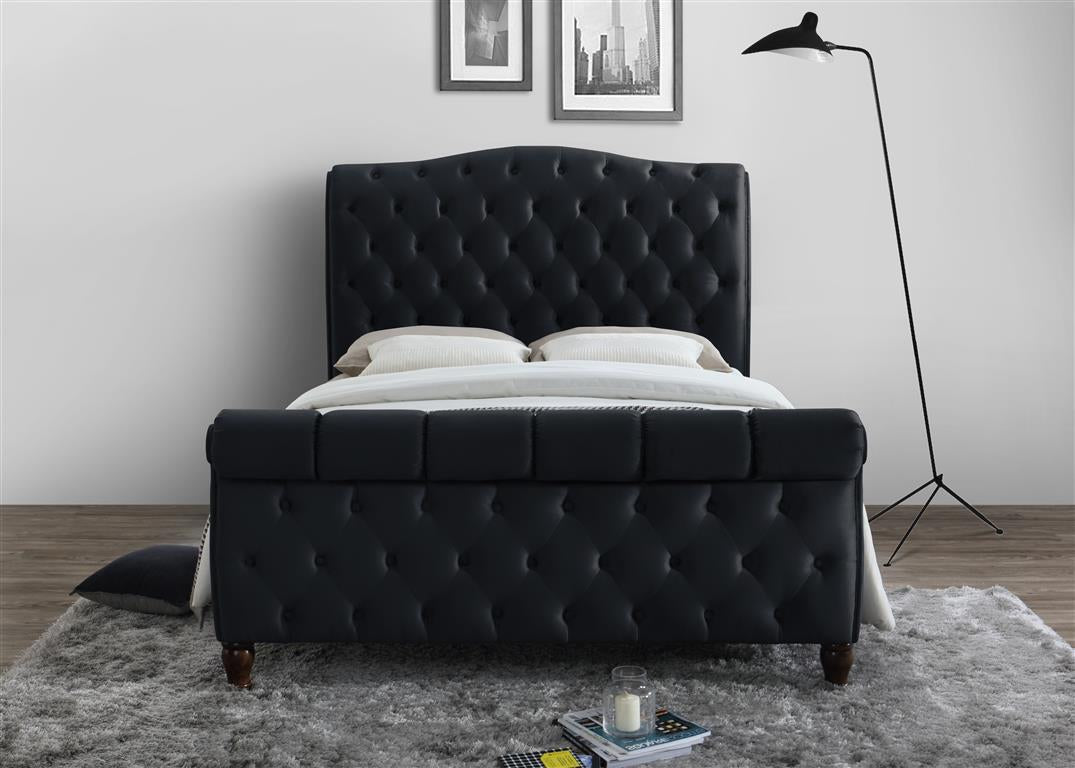 Aspen Super King Size Bed in Black - Ezzo