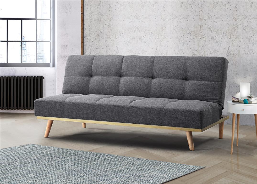 Cosy Sofa Bed in Grey - Ezzo