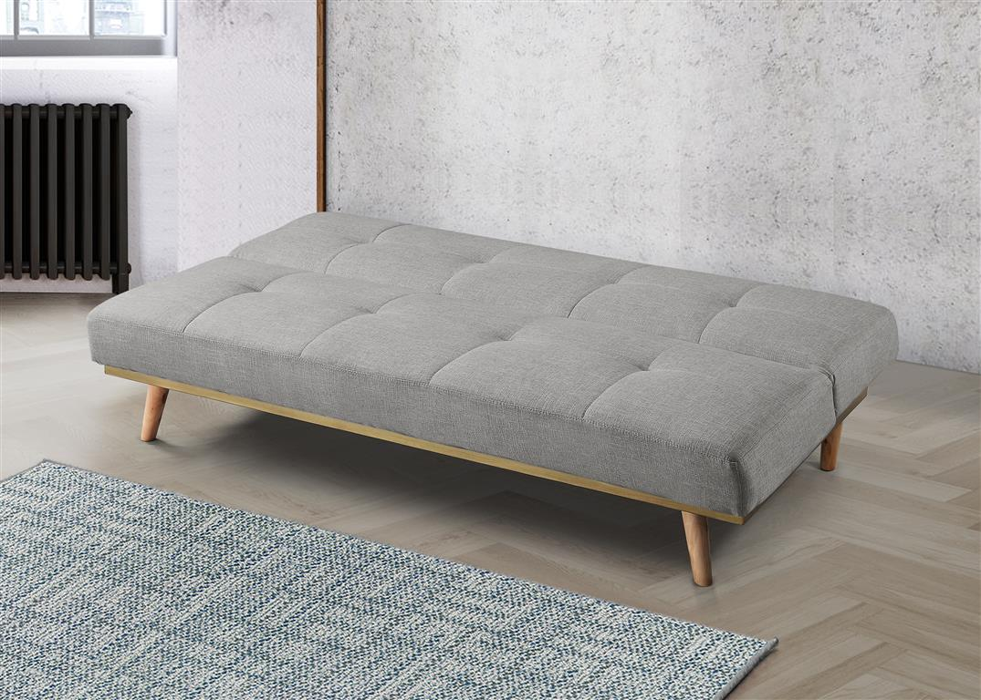 Cosy Sofa Bed in Stone Grey - Ezzo
