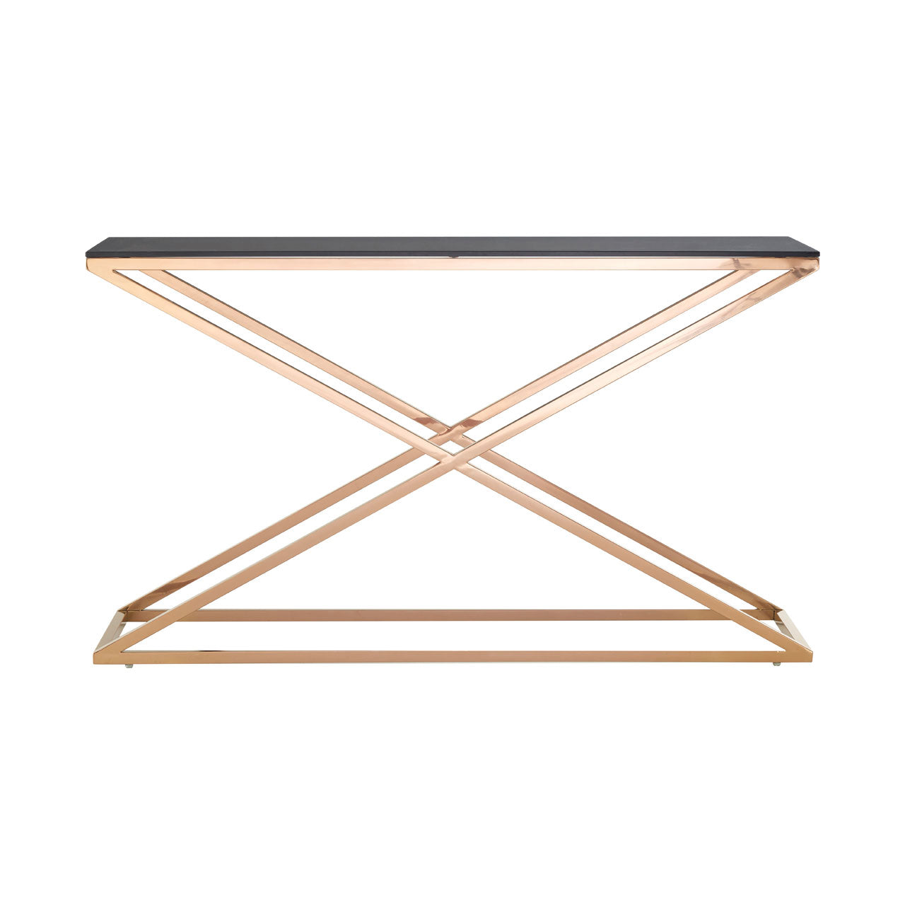 Criss Cross Console Table Gold - Ezzo