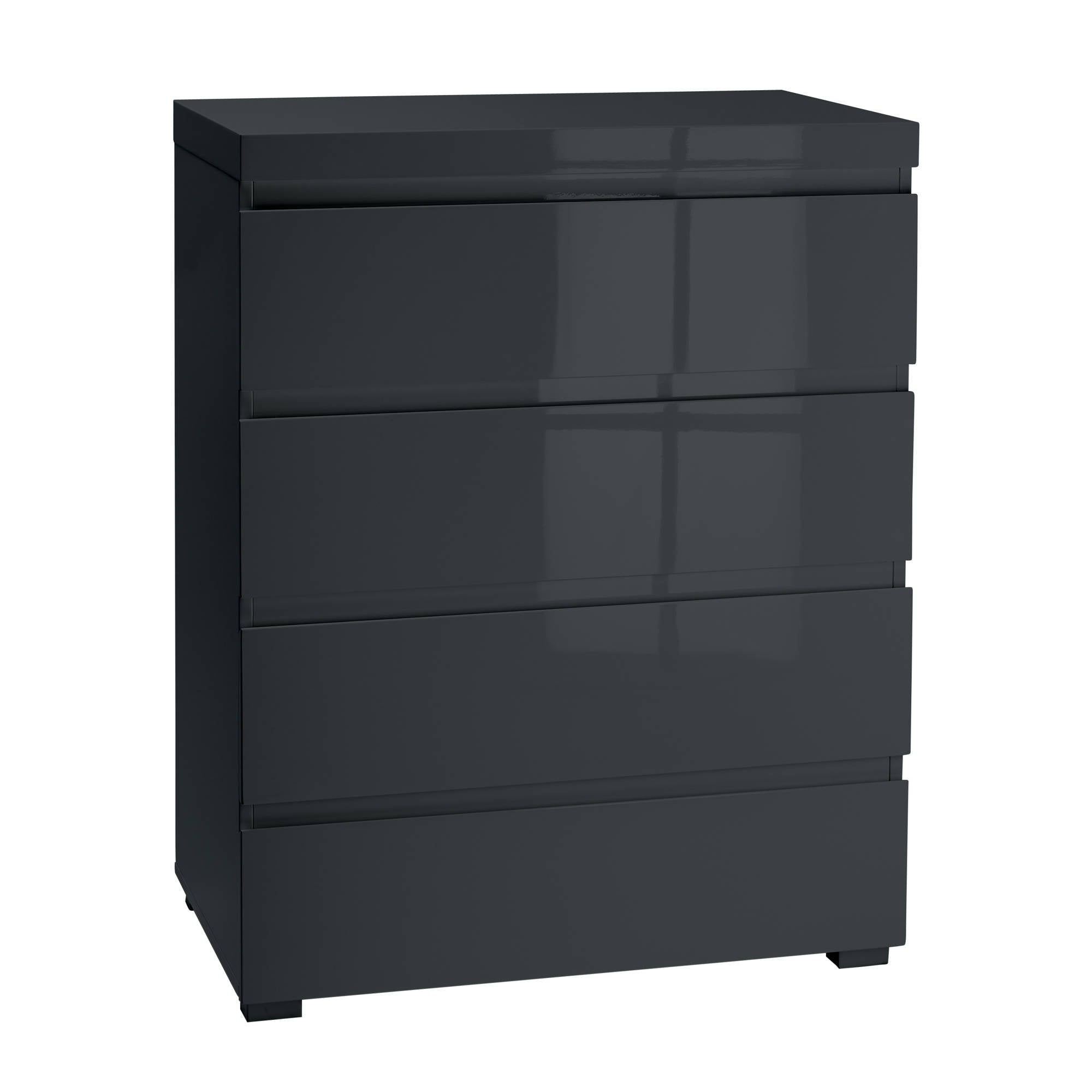 Cuba 4 Drawer Chest in Charcoal - Ezzo