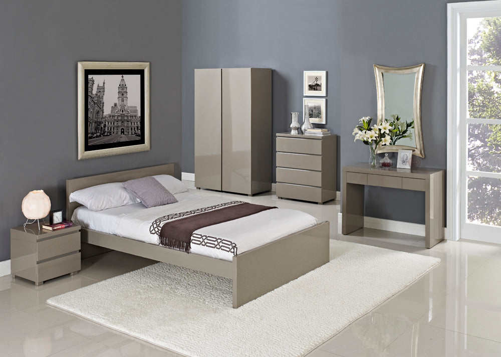Cuba Double Bed in Stone - Ezzo