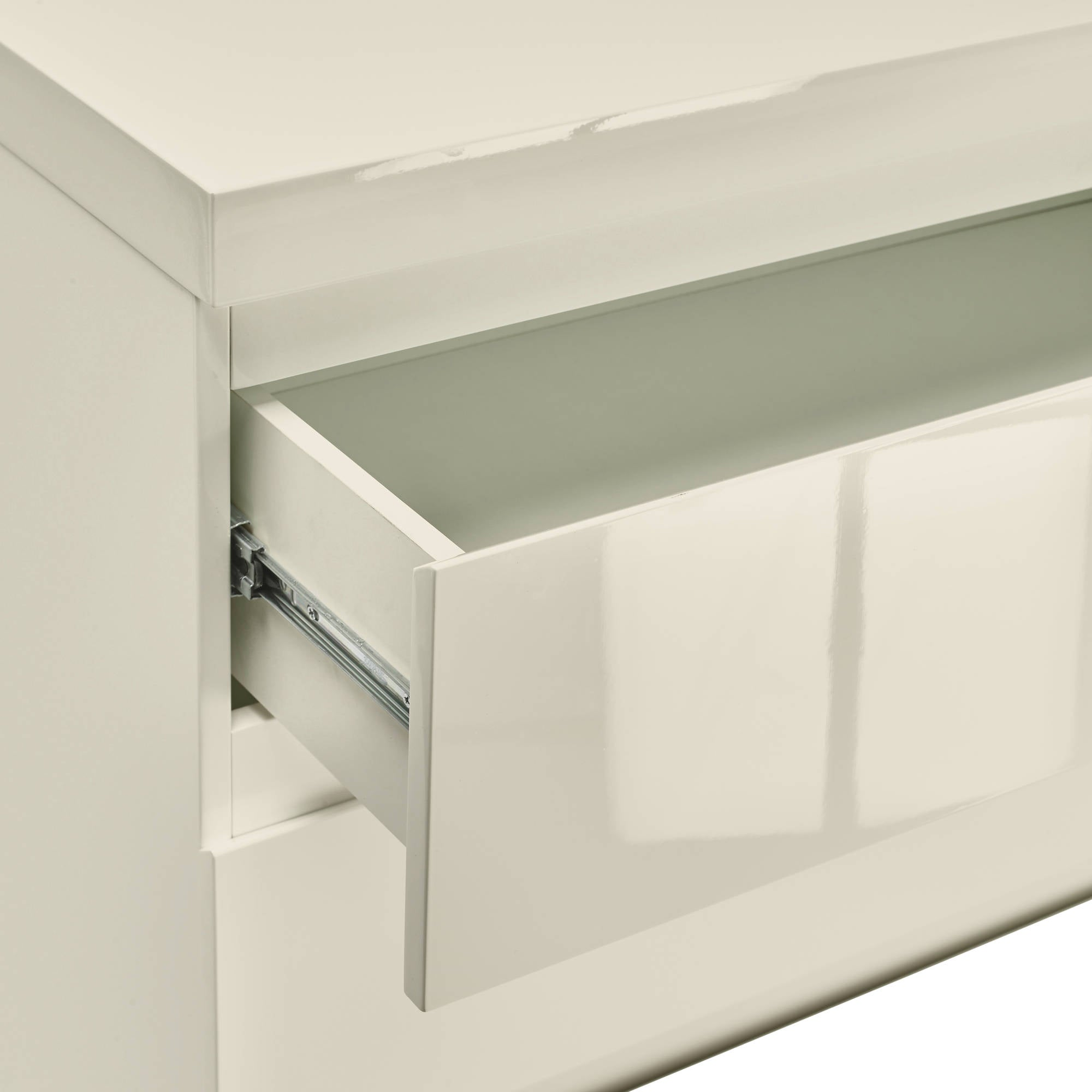 Cuba Bedside Table in Cream - Ezzo