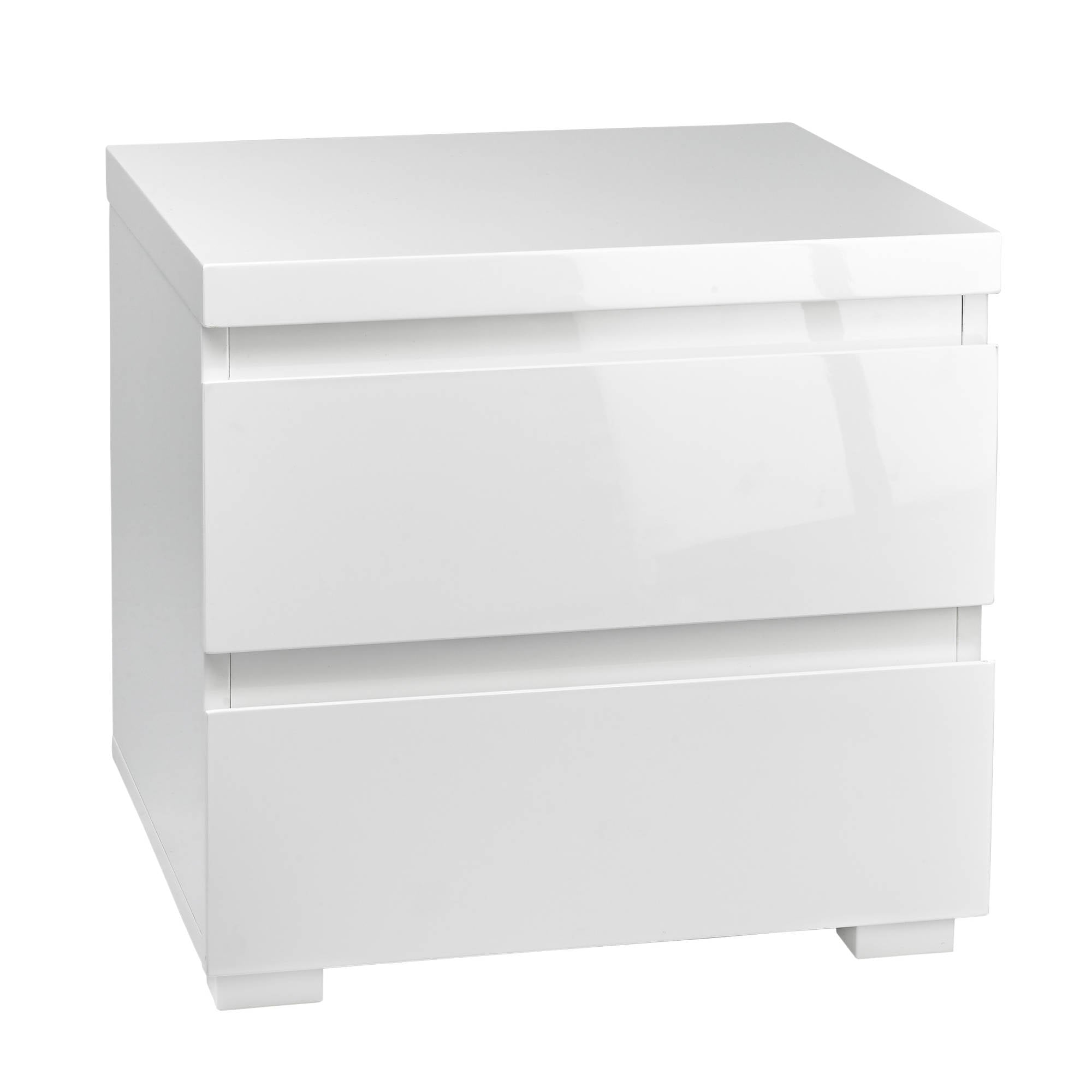 Cuba Bedside Table in White - Ezzo