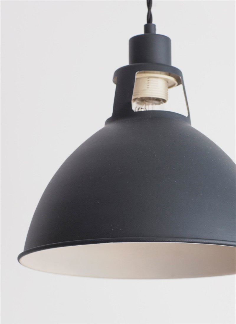 Digbeth Pendant Light in Carbon Steel - Ezzo