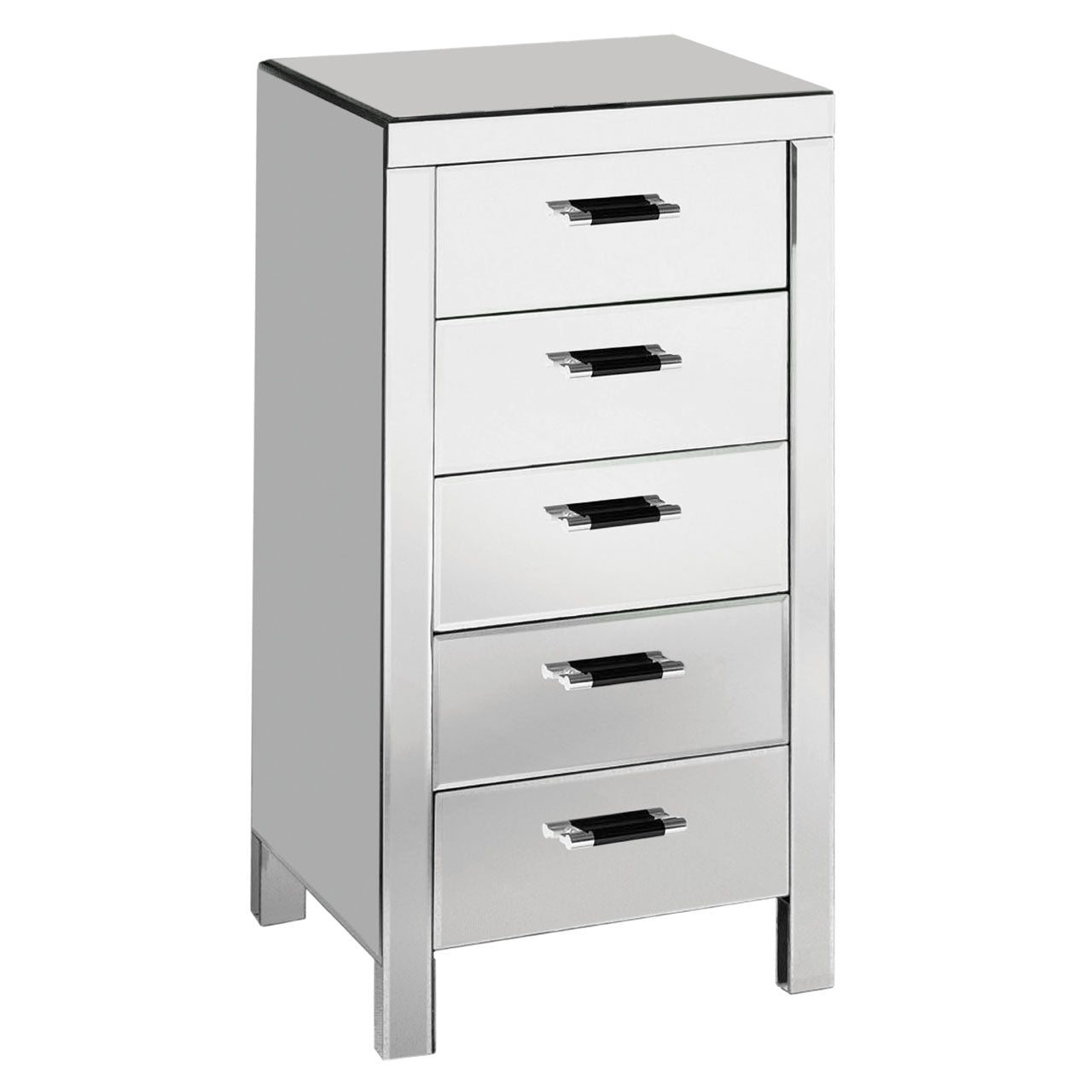 Drawer Chest Mirrored Finish - Ezzo