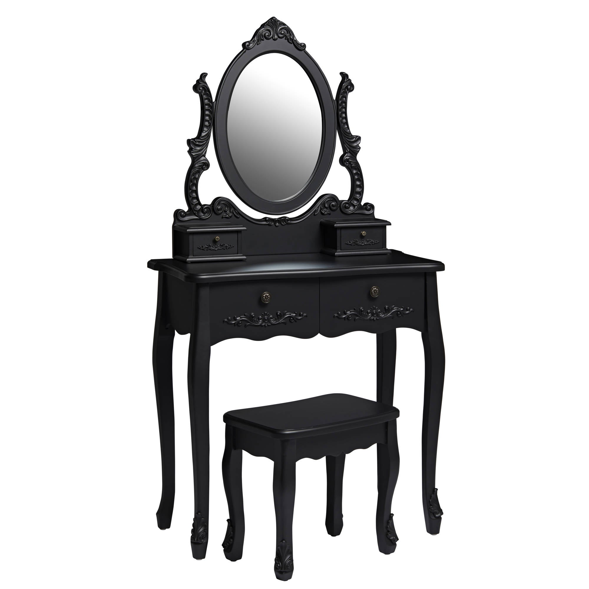 Marie Dressing Table with Mirror and Stool