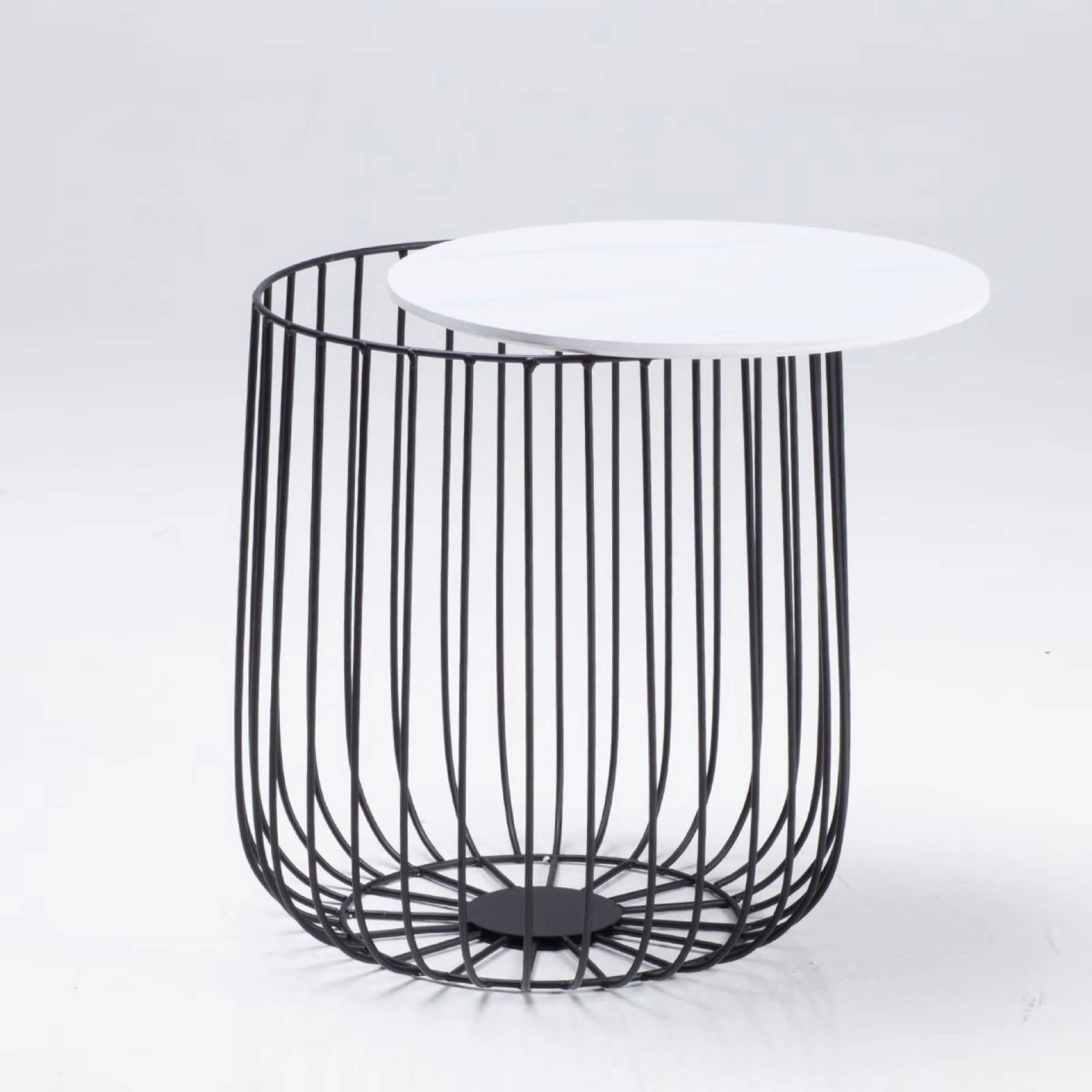 Elio Small Black Cage Table - Ezzo