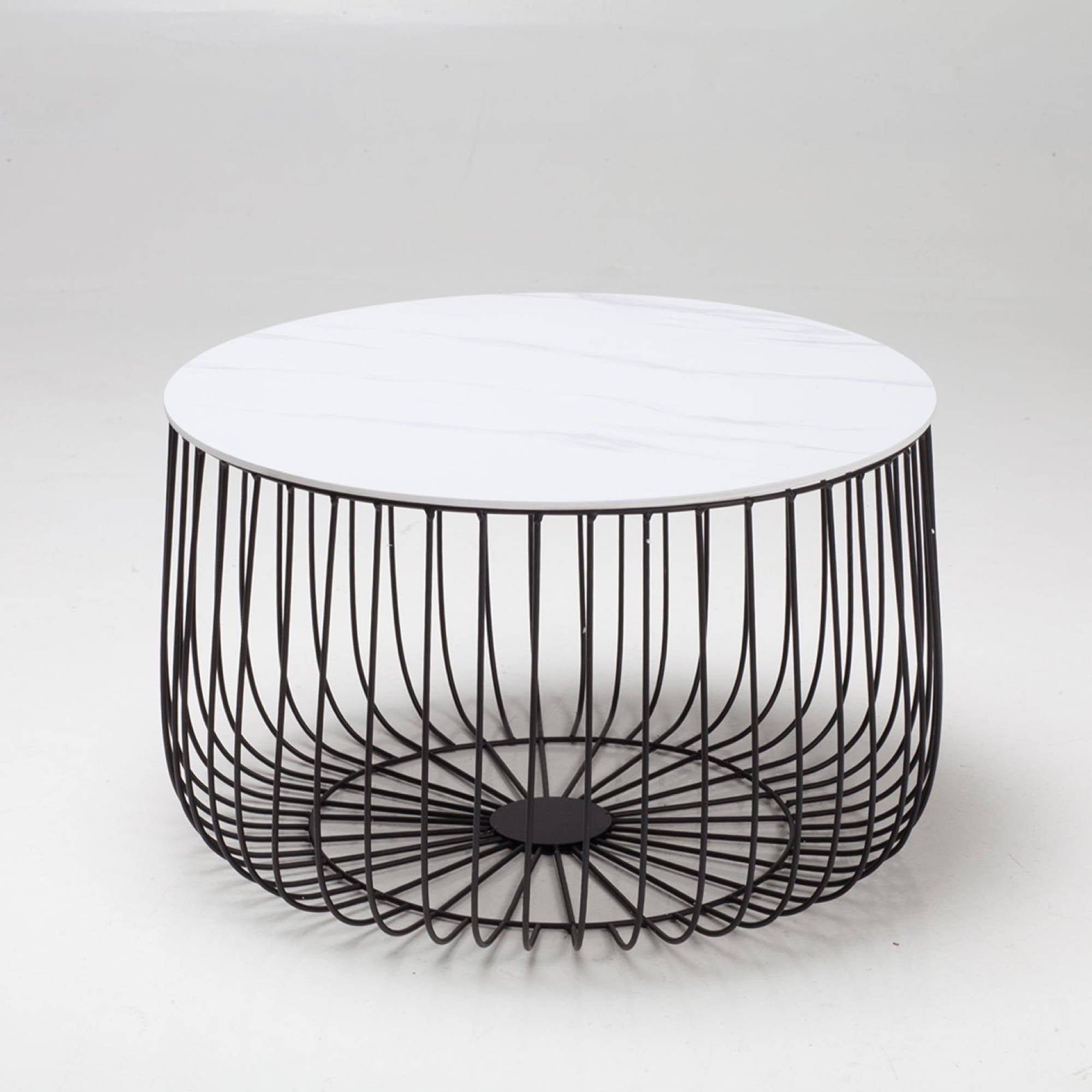 Elio Large Black Cage Table - Ezzo