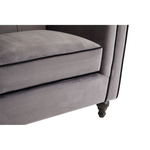 Ferris Grey Velvet Chair - Ezzo