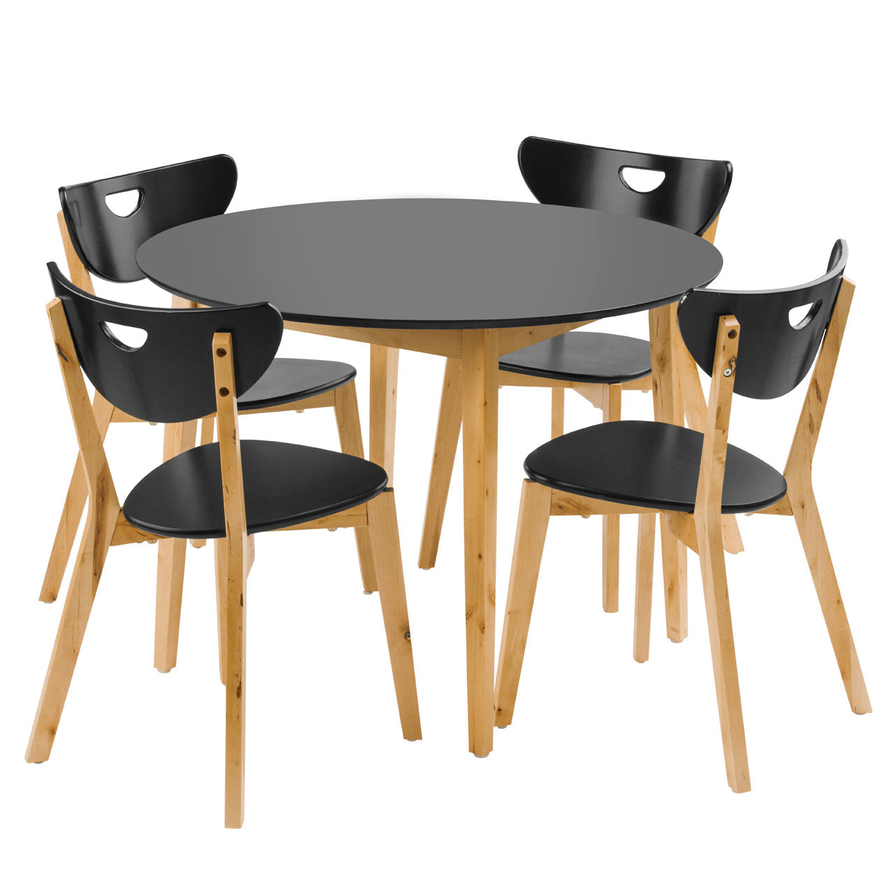 Fiesta Dining Set Black - Ezzo