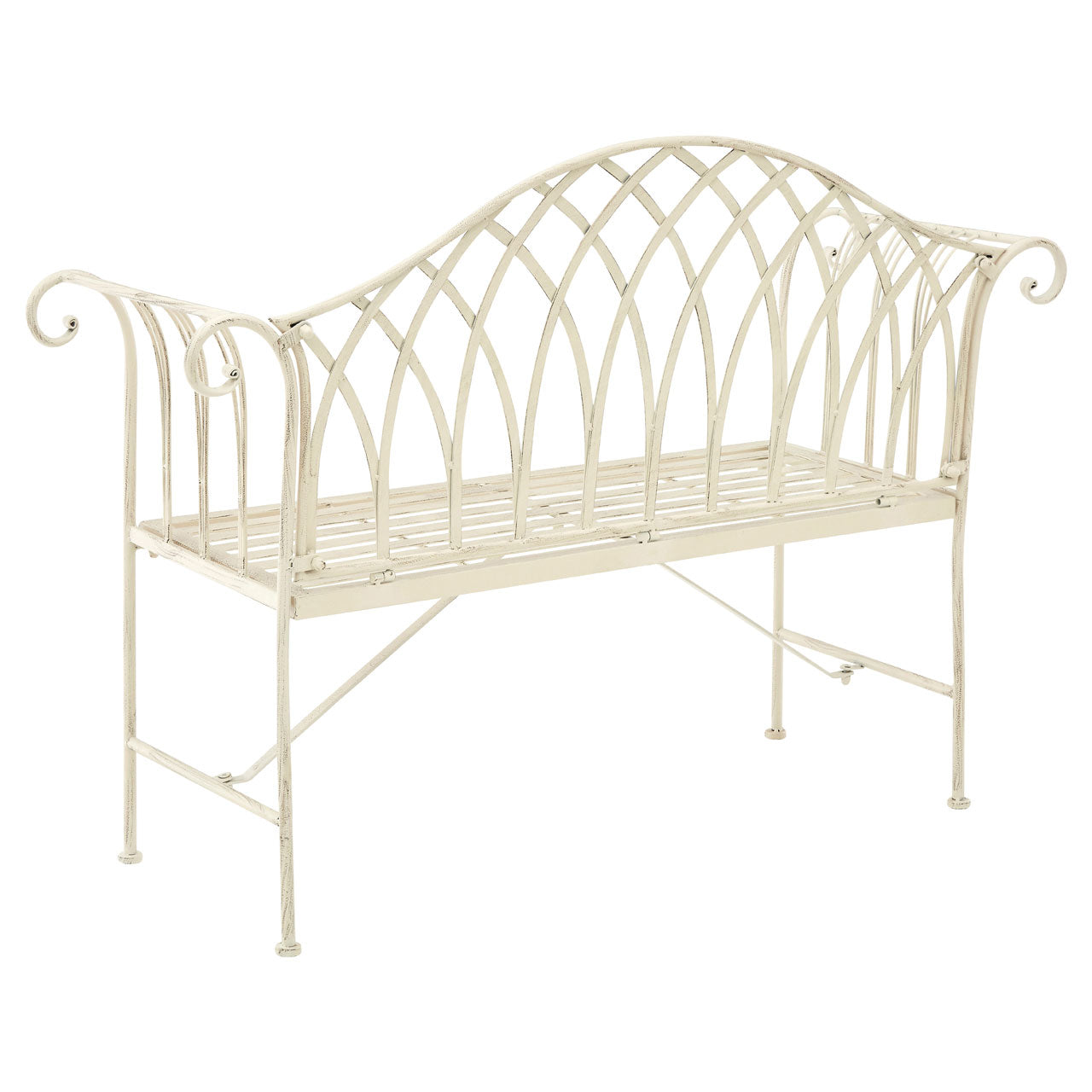 Finchwood Jardin Bench in White - Ezzo
