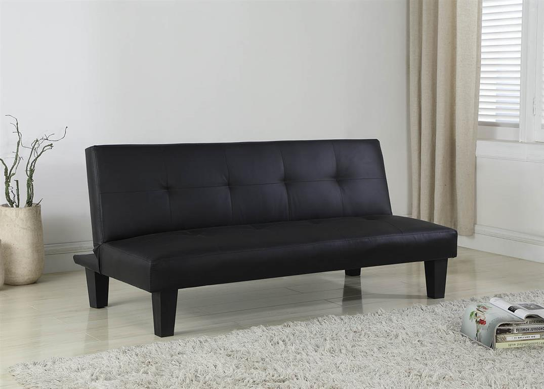 Freeman Sofa Bed in Black - Ezzo