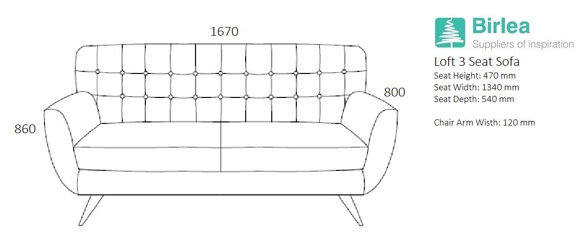 Garret 3 Seat Sofa