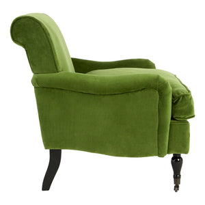 Green Velvet Large Plush Armchair