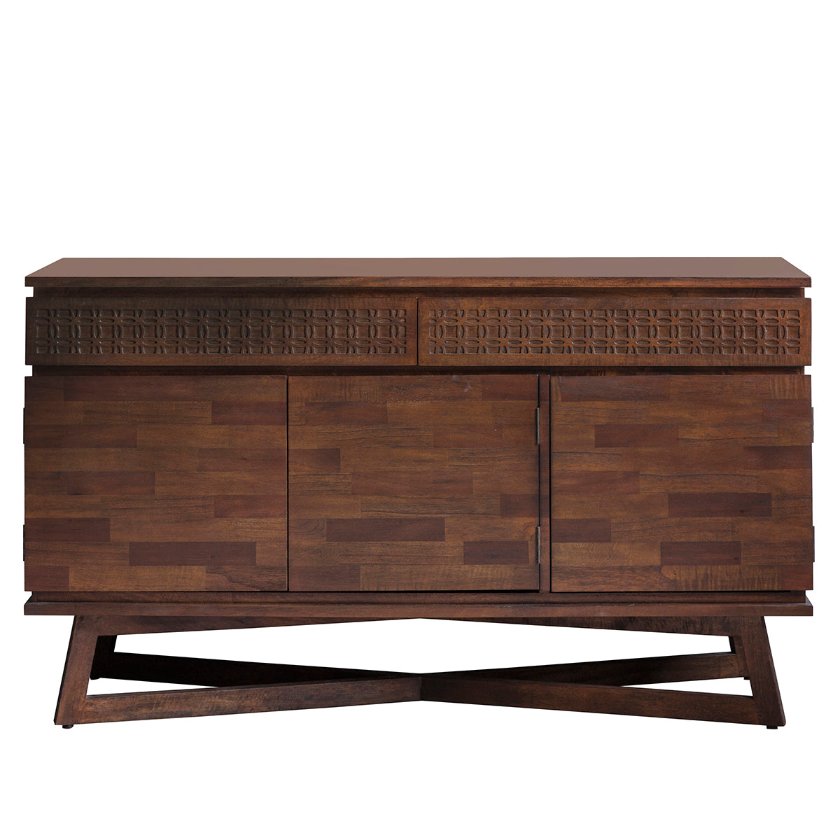 Greenwich 3 Door  2 Drawer Sideboard in Natural - Ezzo