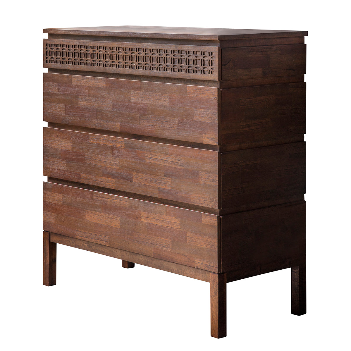 Greenwich 4 Drawer Chest in Natural - Ezzo