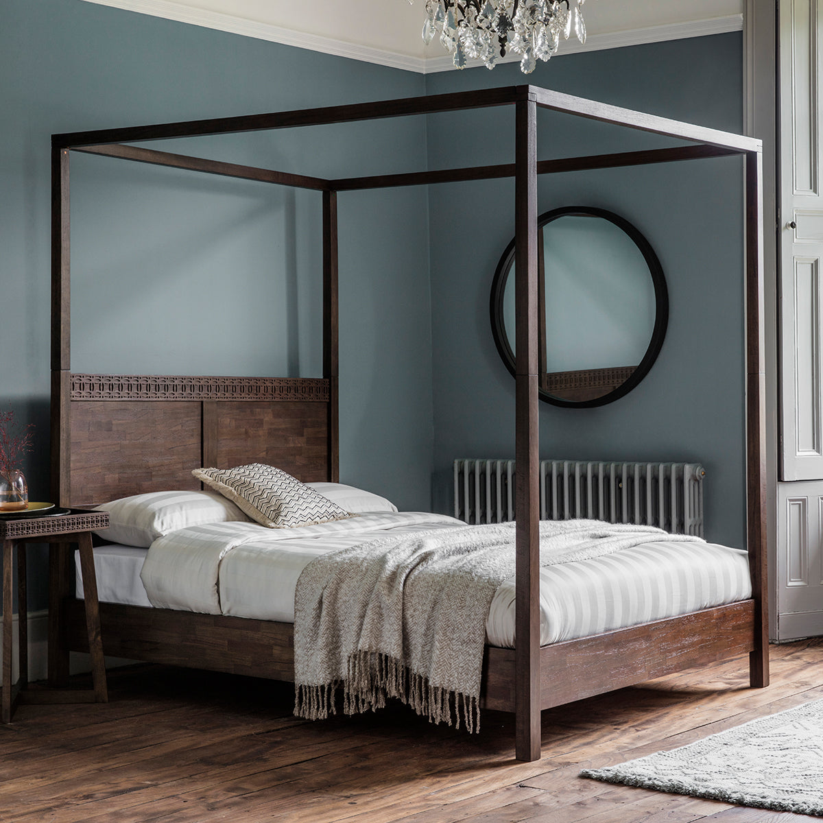 Picture of: Greenwich 4 Poster Super King Size Bed In Natural Fast Free Delivery Ezzo Co Uk