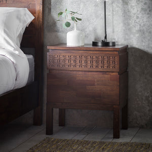 Greenwich Bedside 2 Drawer Chest in Natural