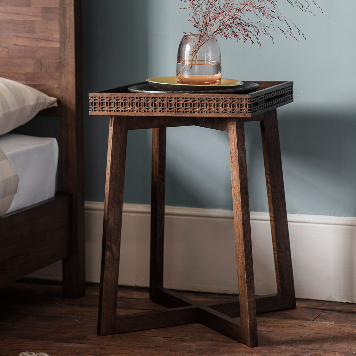 Greenwich Bedside Table in Natural - Ezzo