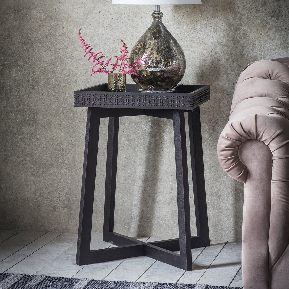 Greenwich Bedside Table in Matt Charcoal - Ezzo
