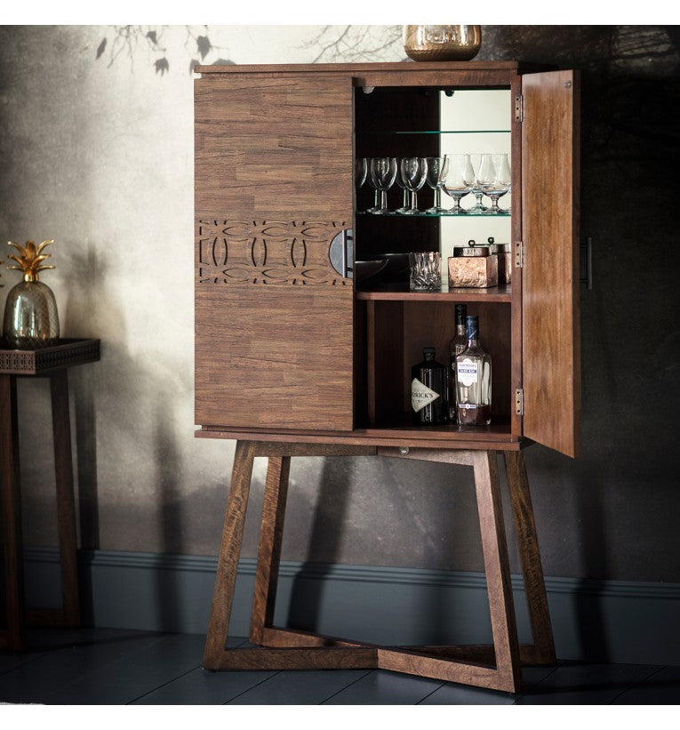 Greenwich Cocktail Cabinet in Natural - Ezzo