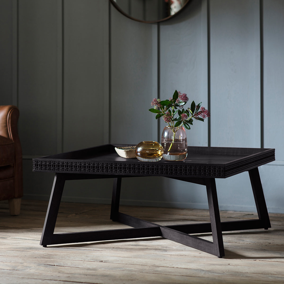 Greenwich Coffee Table in Matt Charcoal - Ezzo