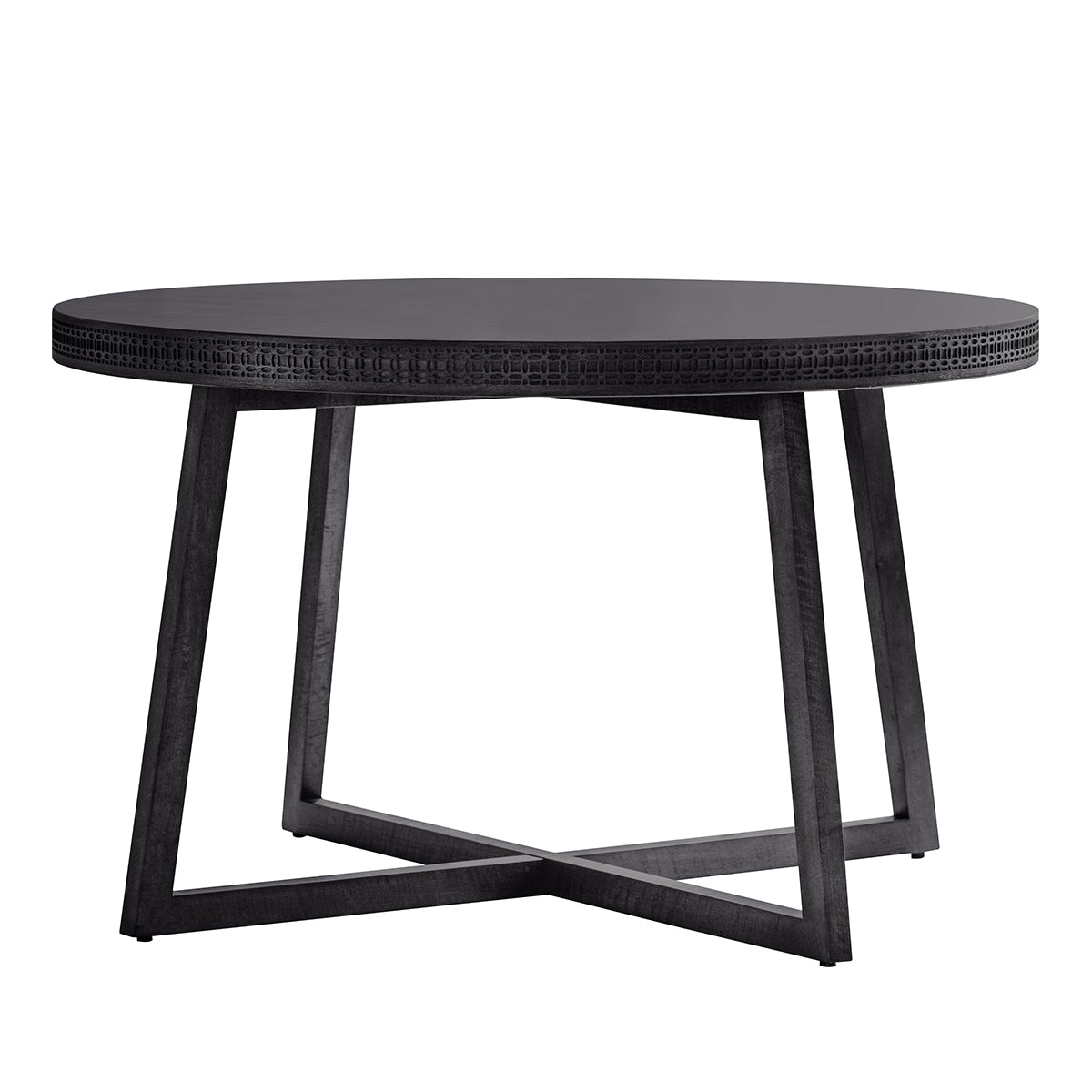 Greenwich Round Dining Table in Matt Charcoal - Ezzo