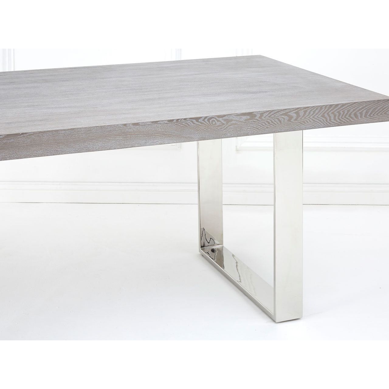 Grey Elm Wood Dining Table