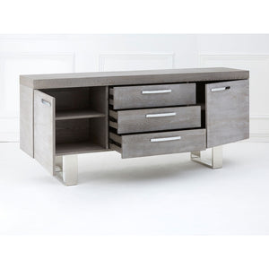Grey Elm Wood Sideboard