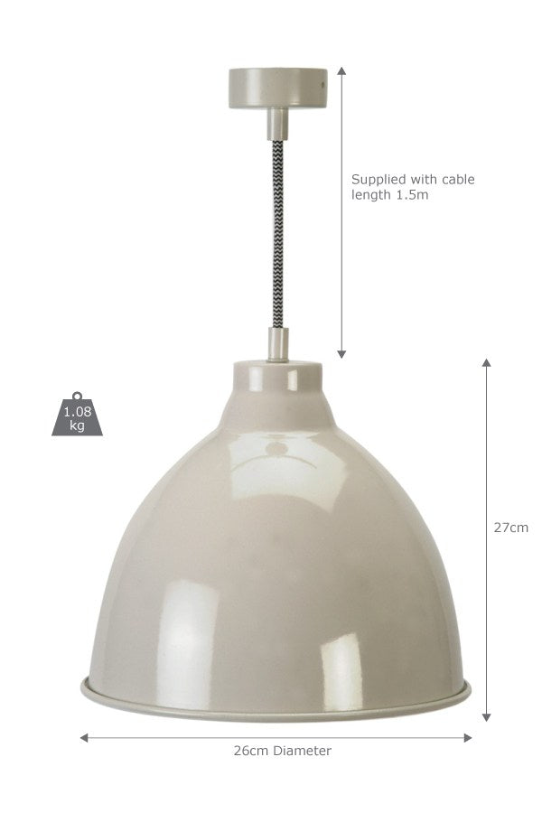 Harrow Pendant Light in Clay - Ezzo