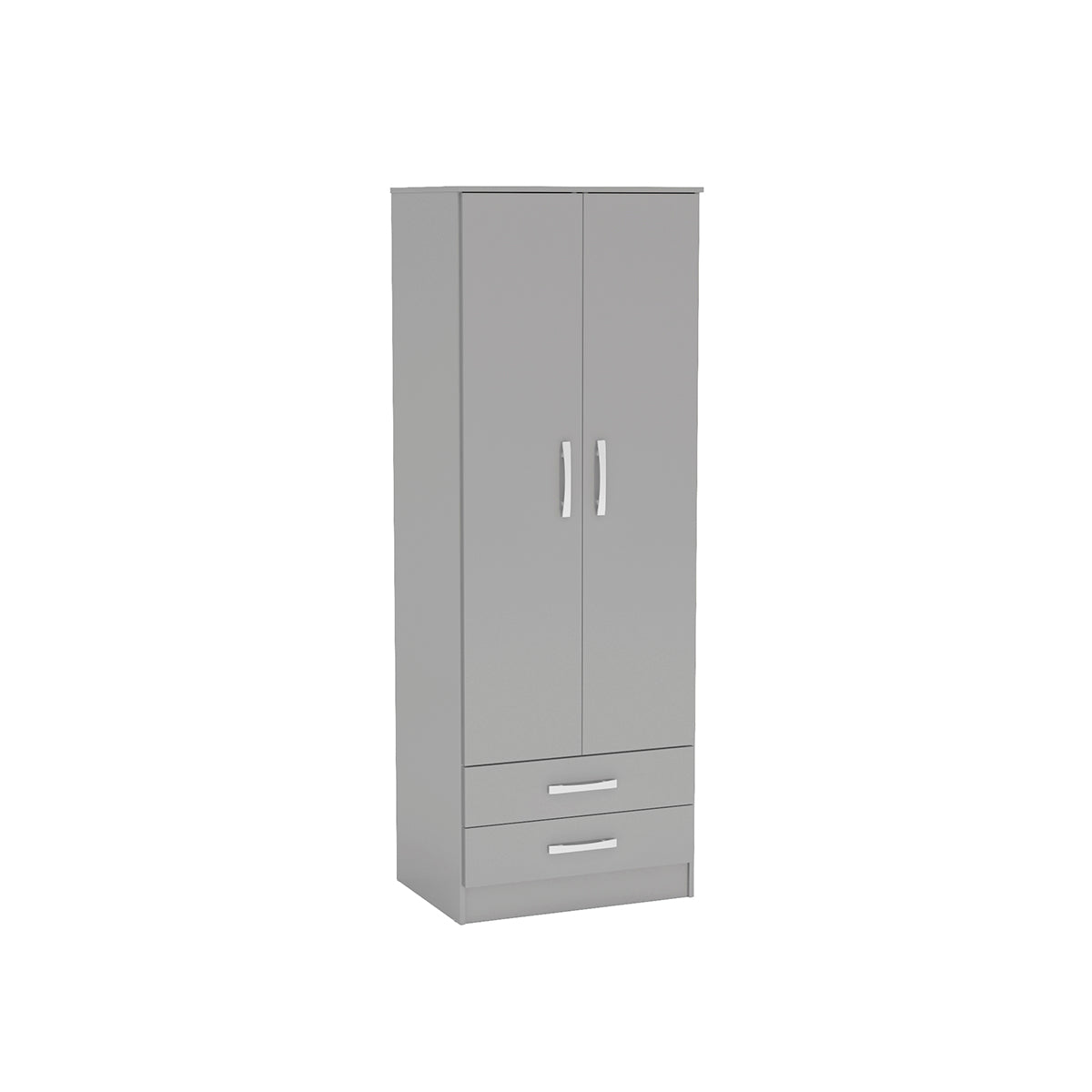 Heath 2 Door Combi Wardrobe in Grey - Ezzo