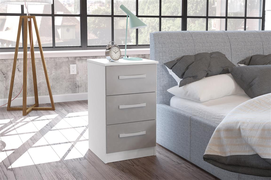 Heath 4 Drawer Chest in White and Grey - Ezzo