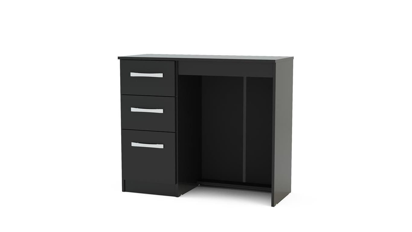 Heath 3 Drawer Dressing Table in Black - Ezzo
