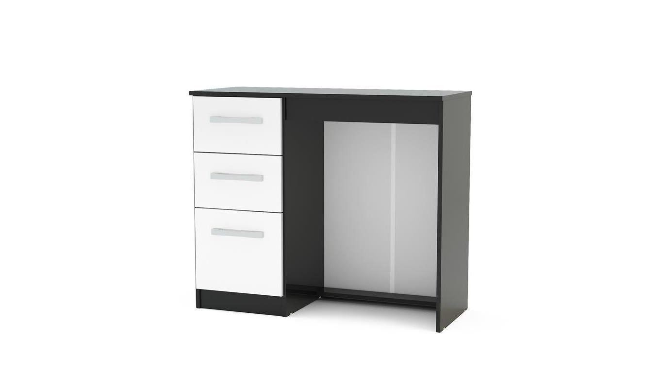 Heath 3 Drawer Dressing Table in Black and White - Ezzo